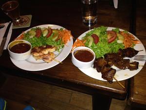 anticucho de corazon (heart kebabs)