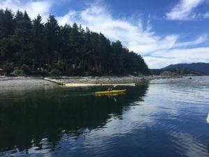 Finn Kayaking in Hariot Bay, Quadra Island