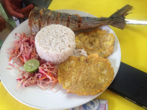 Fish lunch (of course) on the end of the Darien Gap