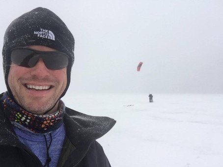 Snow Kiting!