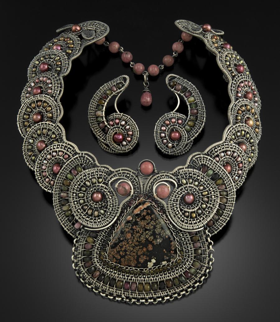 Galaxy Necklace & Earrings