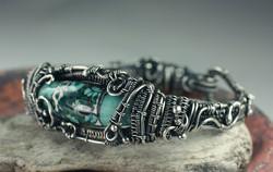 Lampwork Woven Bracelet
