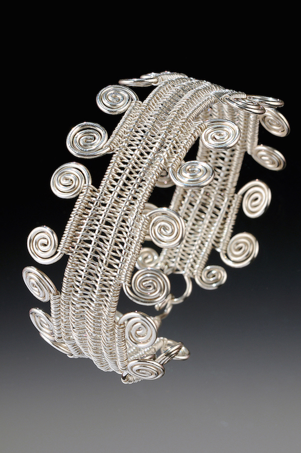 Spiral Fringe Cuff