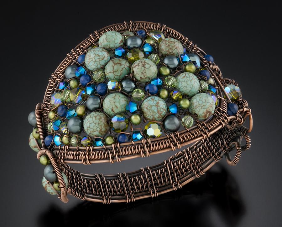 Aqua Tapestry Bracelet1