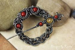 Red Jasper Round Pin