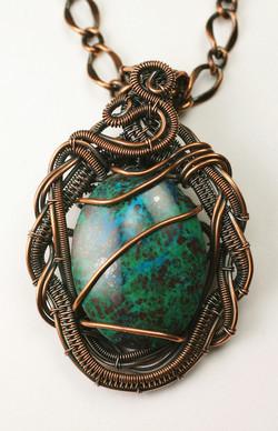Braided Frame Copper Pendant