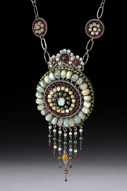 Round Bead Tapestry Necklace