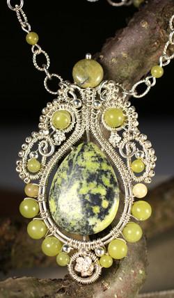 Yellow Lacy Pendant