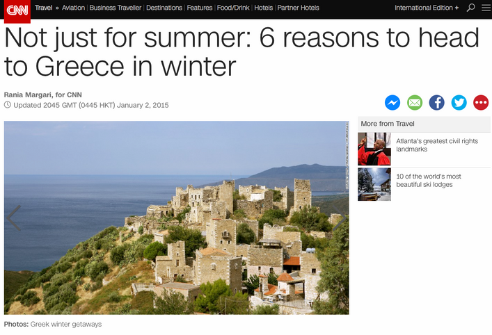 6 reasons to head to Greece in winter, 2 of them in Laconia, Mani and Monemvasia