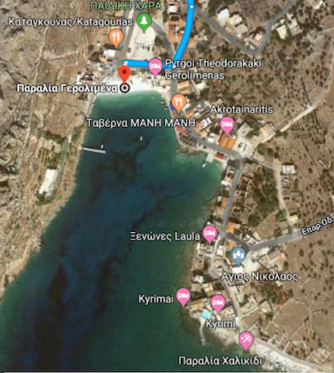 gerolimenas map beaches