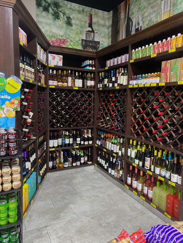 Wide wine selection