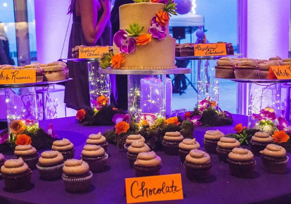 Fall Wedding Cake and Cupcakes