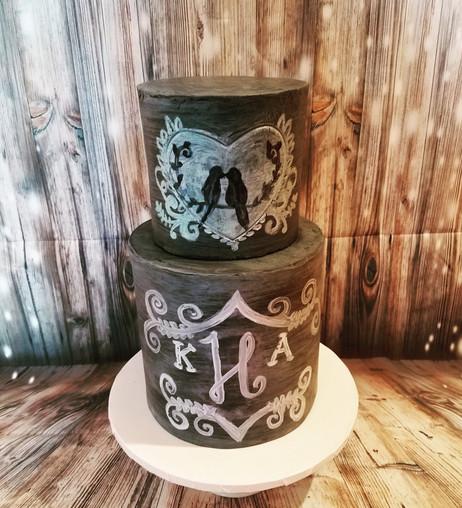 Custom Chalkboard Cake