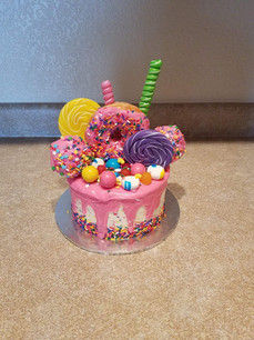 Colorful Donut Candy Cake