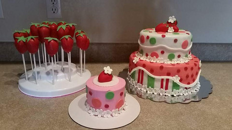 Strawberry Shortcake Dessert Table