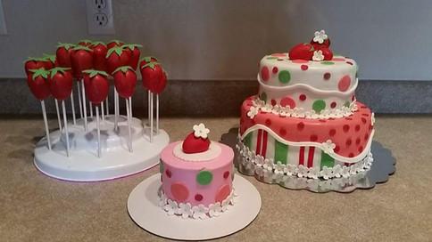 Strawberry Shortcake Dessert Table