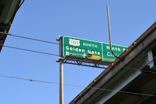 101 North to Golden Gate Bridge or Nineth Street Civic Center