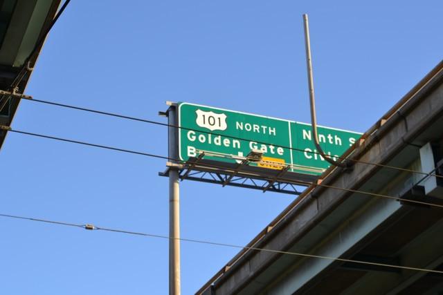 101 North to Golden Gate Bridge or Nineth Street Civic Center