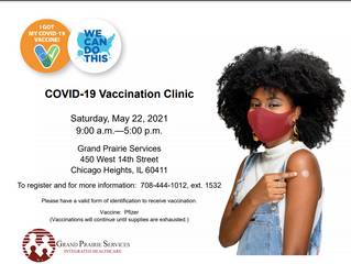 Grand Prairie Services will Host Vaccination Clinic on May 22, 2021