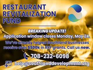 Southland Development Authority Assisting with Applications for Restaurant Revitalization