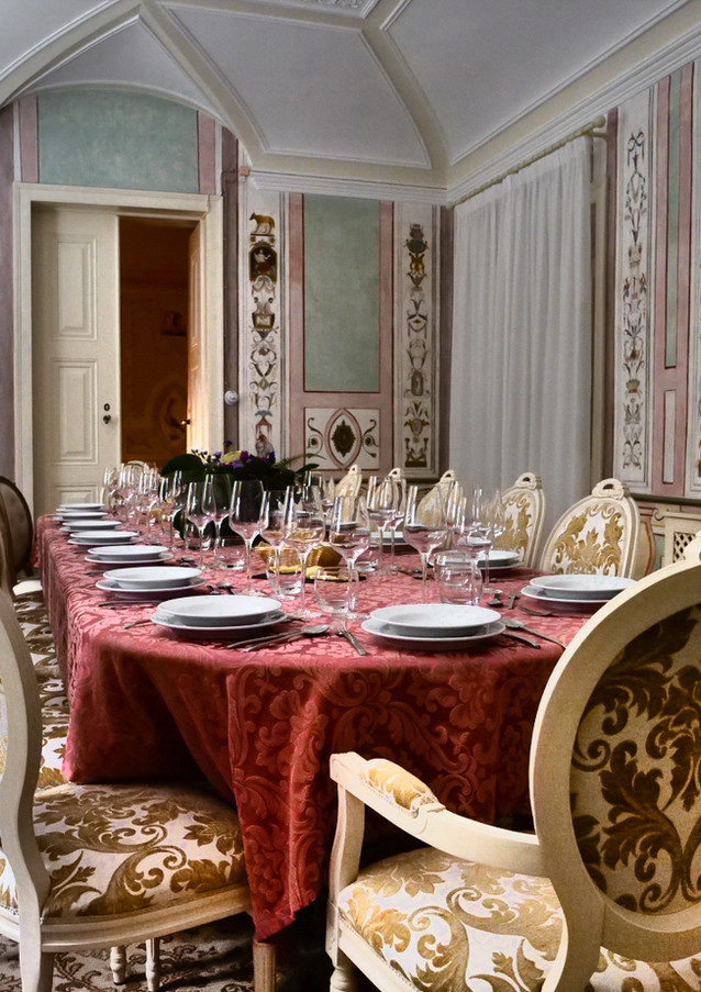 Dinner table for events