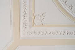 Detail of ceiling in the dining / meeting room