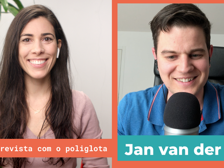Interview with polyglot Jan van der Aa in Portuguese