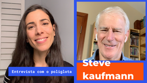 Interview with polyglot Steve Kaufmann in Portuguese