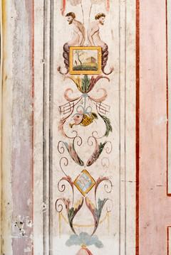 Detail of frescoes (before restoring)