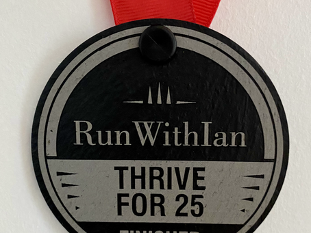 £10 entry for the 'Thrive for 25' January Challenge!