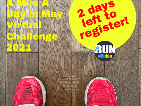The RunWithIan 'A Mile A Day in May' Challenge Starts very soon.