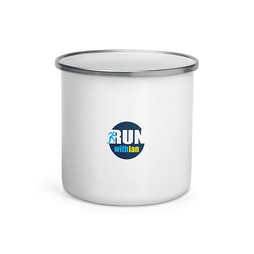 RunWithIan Enamel Mug
