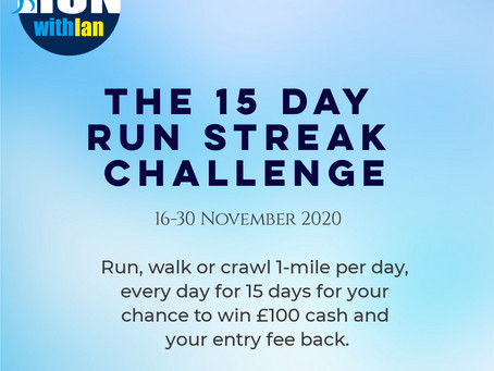 15 Day Run Streak Challenge Update (Day 8)