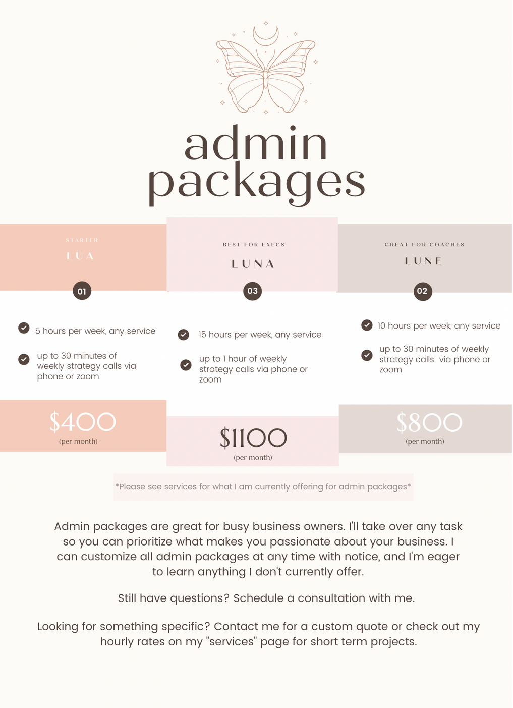 Admin Packages