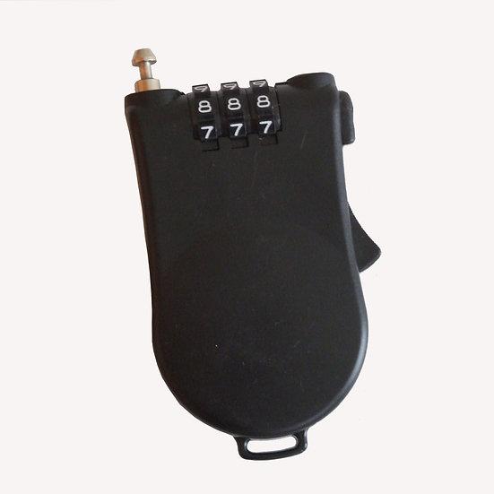 Combination retractable steel cable lock