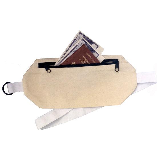 Lockable 100% cotton Money belt, with lastic waist band for comfort