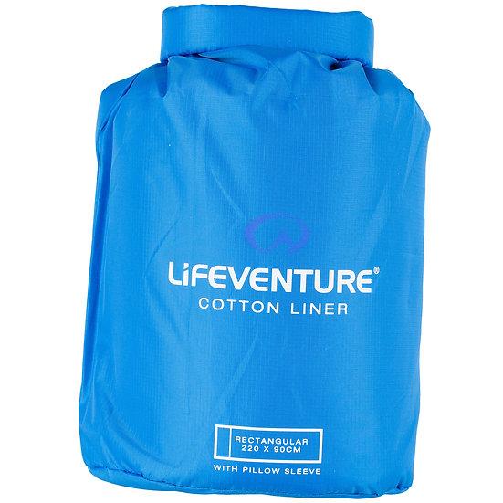 Lifeventure 100% cotton rectangular liner with pillow slot