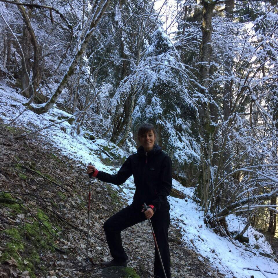 Sortie nordic walking, Valais
