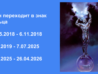 Переход Урана в Телец 15.05 -6.11.2018