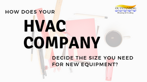 size of new hvac equipment