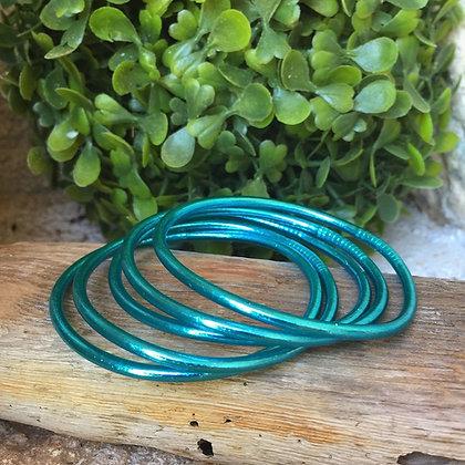 Bracelet bouddhiste couleur bleue d'été VERSION FINE