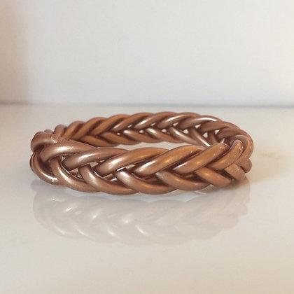 Bracelet bouddhiste couleur cuivre VERSION TRESSEE