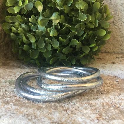 Bracelet bouddhiste couleur argent brillant VERSION LARGE