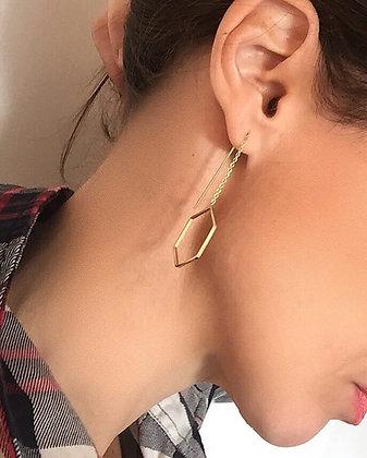Boucles d'oreilles alvéoles