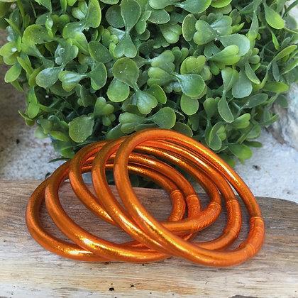 Bracelet bouddhiste couleur orange d'été VERSION LARGE