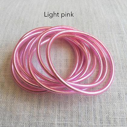 Bracelet bouddhiste couleur rose d'été VERSION FINE