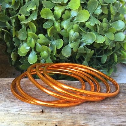 Bracelet bouddhiste couleur orange d'été VERSION FINE