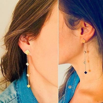 Boucles d'oreilles losanges