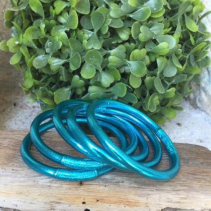 Bracelet bouddhiste couleur bleue d'été VERSION LARGE
