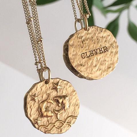 Bijou astrologie signe médaillon collier